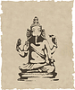 Vector clipart: ganesha statue