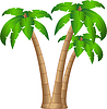 Vector clipart: tropical tree