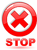 Red stop symbol | Stock Vector Graphics