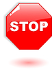 Vector clipart: red stop symbol
