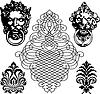 Векторный клипарт: средневековый набор символов