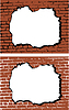 Brick wall with hole | Stock Vector Graphics