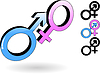 Vector clipart: male and female symbol