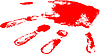 Vector clipart: red hand print