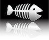 Vector clipart: abstract fish skeleton