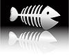 Vektor Cliparts: die abstrakte Fischskelett
