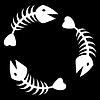Vektor Cliparts: die abstrakte Fischskelett Hintergrund