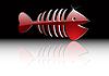 Vektor Cliparts: die abstrakte Gold Fischskelett