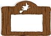 Vektor Cliparts: das Holz Banner