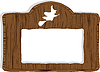Vector clipart: wood banner