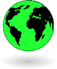 Vektor Cliparts: das Green-Globe-