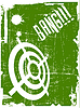 Vector clipart: abstract target on grunge background
