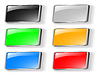 Vector clipart: set of colored buttons
