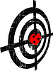 Vector clipart: abstract grunge target