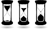 Vector clipart: black and white hourglass