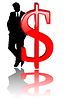 Vector clipart: dollar sign with businessman