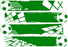 Vector clipart: green banners with soccer balls