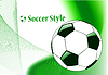 Vector clipart: abstract sport soccer background