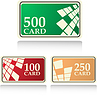 Vector clipart: color gift and bonus cards