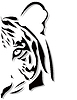 Vector clipart: tiger head