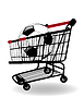 Vector clipart: Shopping cart with Sale label