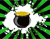 Vector clipart: st. patricks day pot of gold