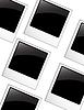 Vector clipart: polaroid blank photos