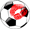 Vector clipart: soccer ball with lips