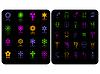 Vector clipart: color symbol set
