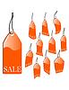 Vector clipart: orange sales label