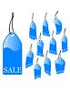 Vector clipart: blue sales label