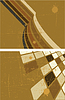 Vector clipart: brown abstract background set