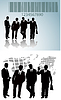 Vector clipart: business silhouette