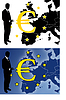 Vector clipart: euro sign with businessman