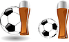 Vector clipart: glass of beer with soccer ball