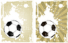 Vector clipart: grunge background with soccer ball