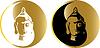 Vector clipart: golden buddha