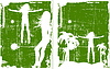 Vector clipart: grunge green background set