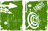 Vector clipart: abstract target on grunge background set