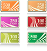 Vector clipart: color gift and bonus cards set