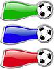 color soccer banner set