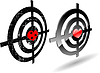 Vector clipart: abstract grunge target set