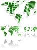 Vector clipart: green world map