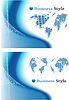 Vector clipart: blue abstract background set