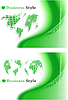 Vector clipart: green abstract background set