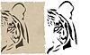 Vector clipart: abstract tiger head