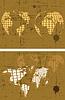 Vector clipart: retro grunge world map