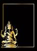 Vector clipart: gold ganesha statue