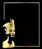 Vector clipart: gold head of Nefertiti