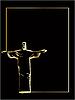 Vector clipart: Jesus Christ statue silhouette in Rio de Janeiro